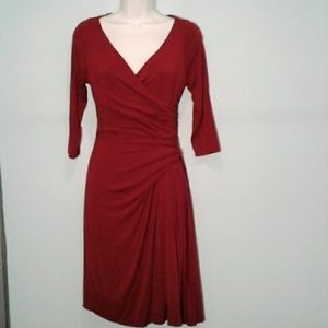 The Limited burgundy faux wrap dress, XS